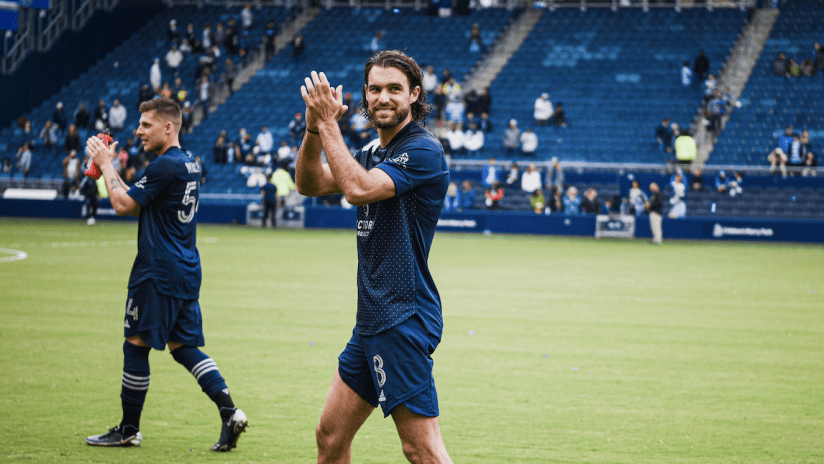 Graham Zusi clapping - Sporting KC vs. Vancouver Whitecaps FC - May 16, 2021