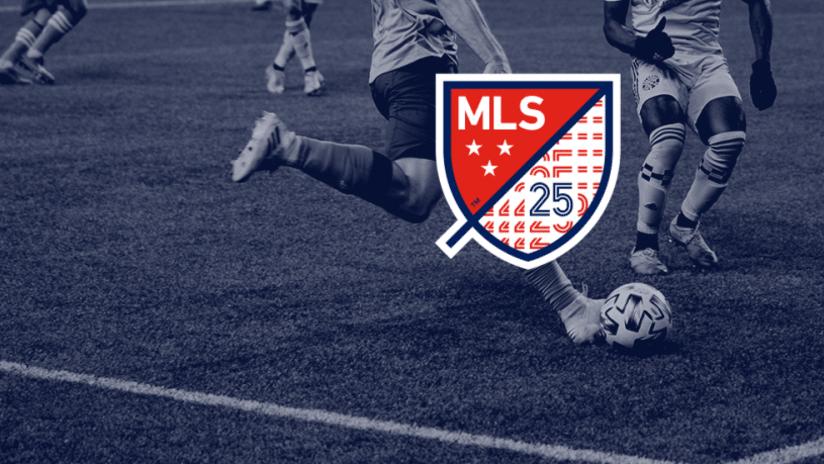 MLS 25th Anniversary Logo - player background