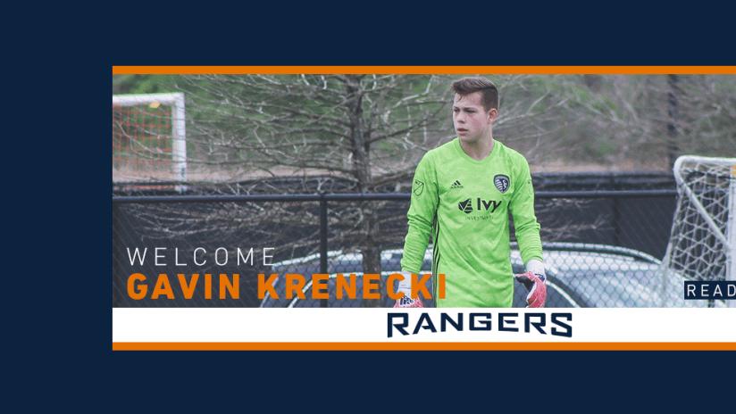 SPR Signs Gavin Krenecki