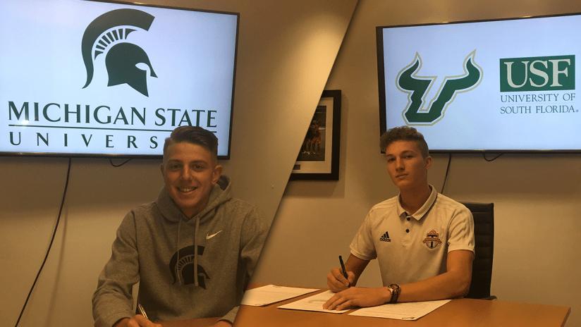 Academy NCAA Signings