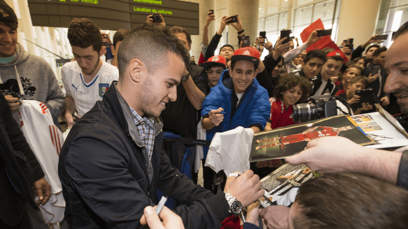 Giovinco Arrives In Toronto