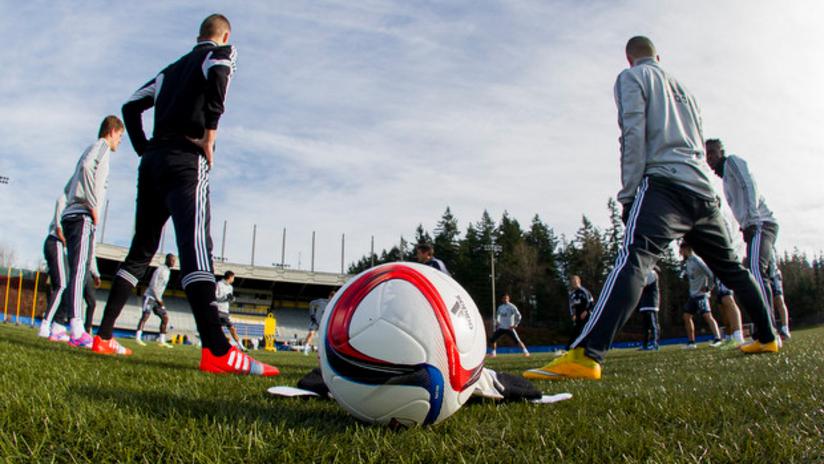 Training session photo at UBC - 2015