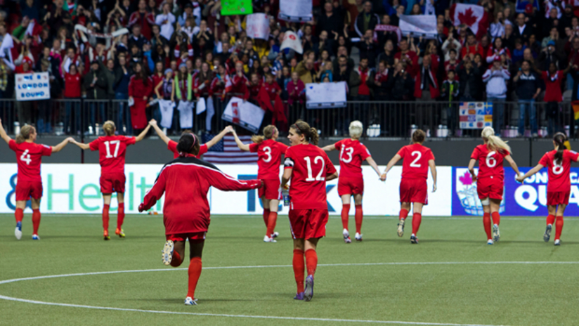 Canada women's national team at BC Place