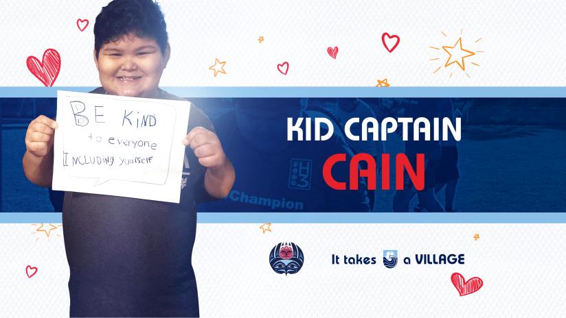 Cain kid captain