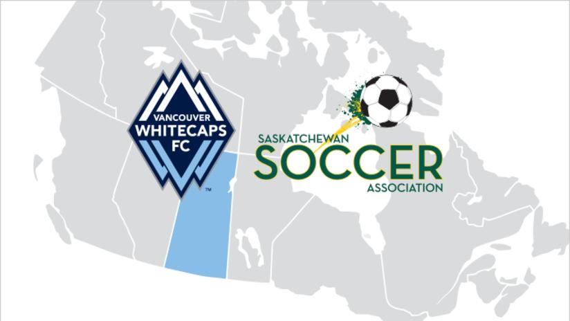Saskatchewan Soccer Association partnership graphic