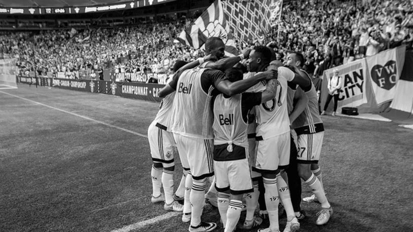 Celebration - acc - black and white - huddle