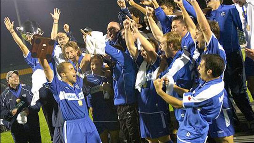 2006 USL championship - celebration