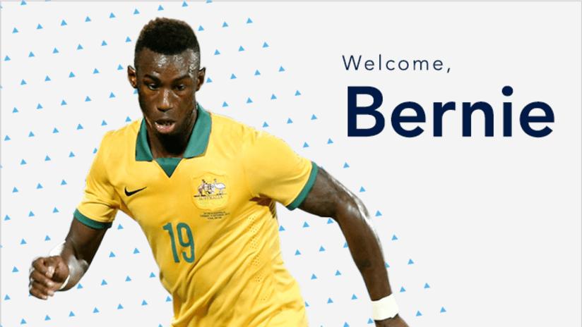 Welcome Bernie Ibini