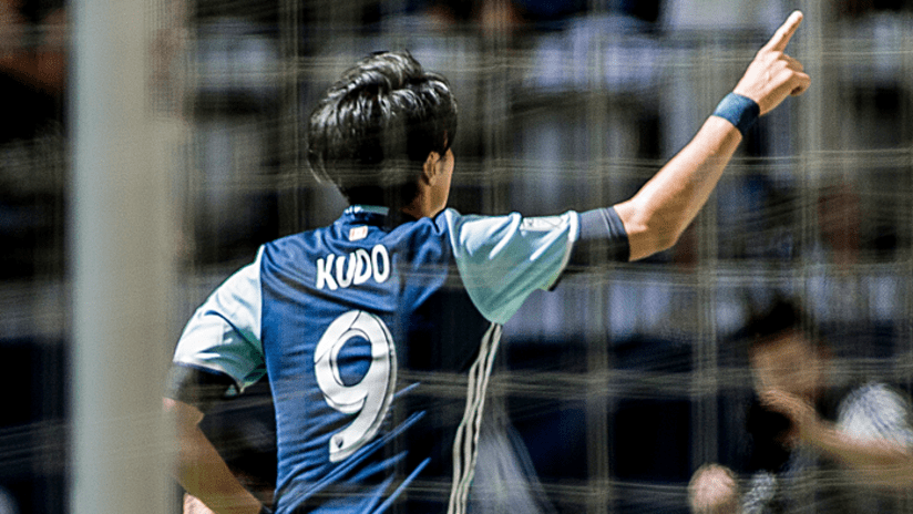 Kudo celebration - first MLS goal