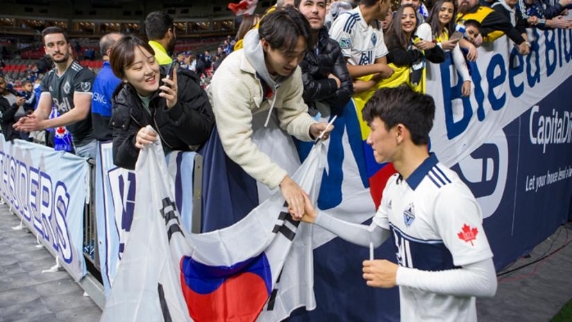 Inbeom Hwang - Korean fans - flag