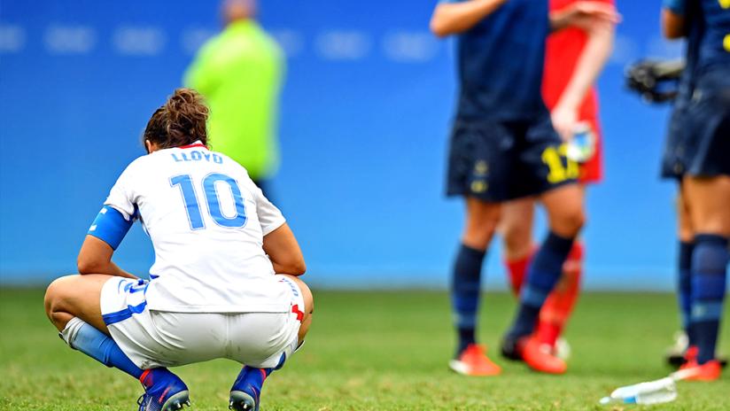 Carli Lloyd - US women's national team (USWNT) - distraught