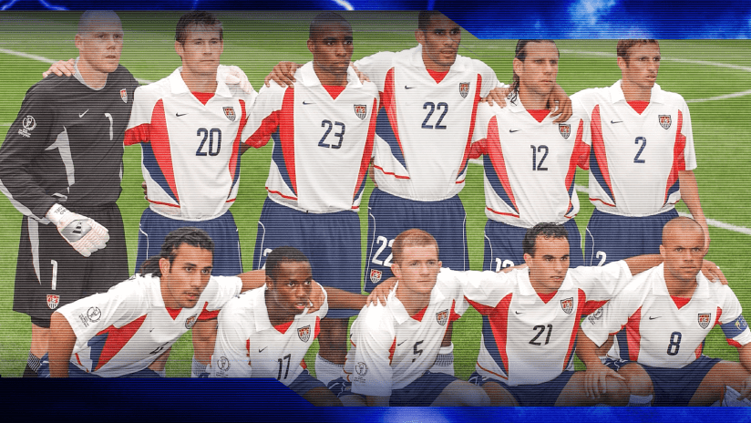 The US national team's starting XI that faced Portugal at the 2002 FIFA World Cup