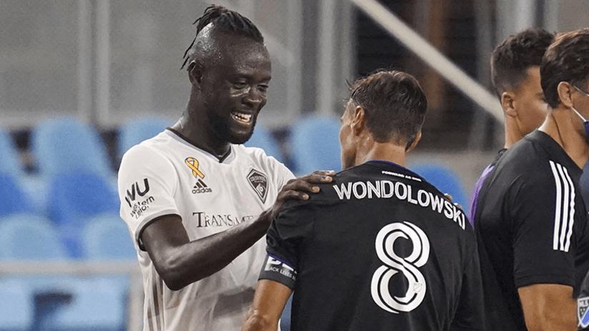 Kei Kamara and Chris Wondolowski - Colorado Rapids - September 5, 2020