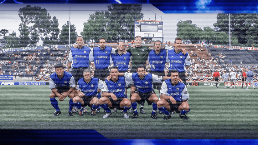 San Jose Earthquakes starting XI at Spartan Stadium in San Jose, Calif. on July 4, 2001