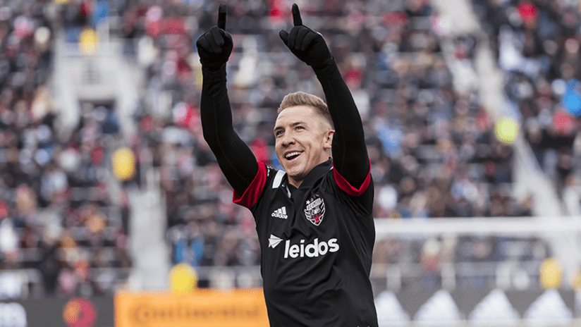 Russell Canouse celebrates - DC United - February 29, 2020