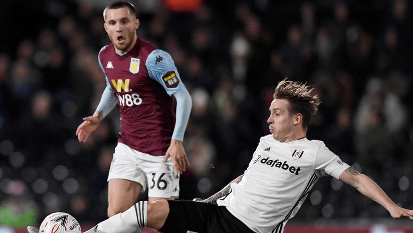 Indiana Vassilev - Aston Villa - FA Cup match vs. Fulham's Stefan Johansen