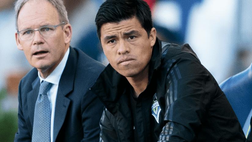 Gonzalo Pineda - Seattle - sitting in coaching area