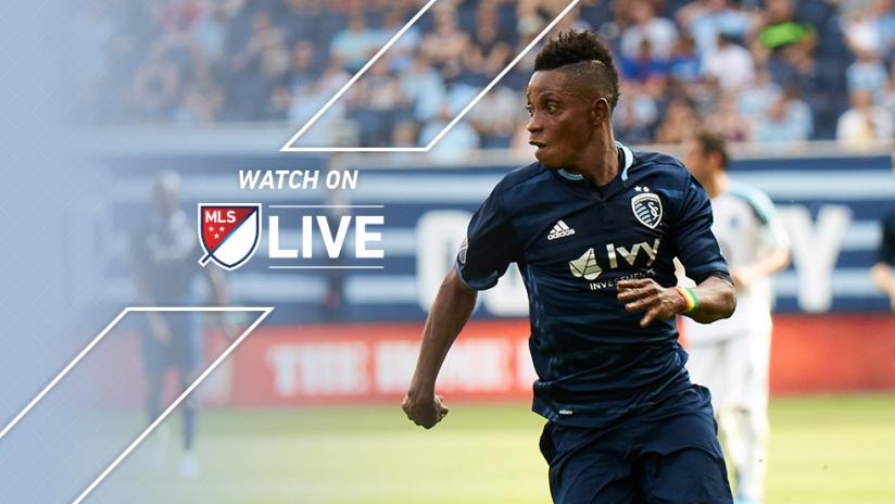 MLS LIVE - Latif Blessing - Sporting Kansas City - Dribbles left
