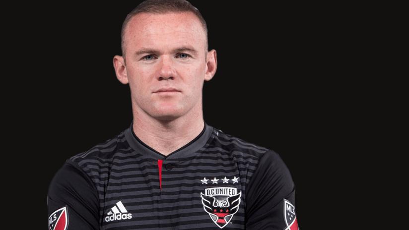 Wayne Rooney - close up on black background