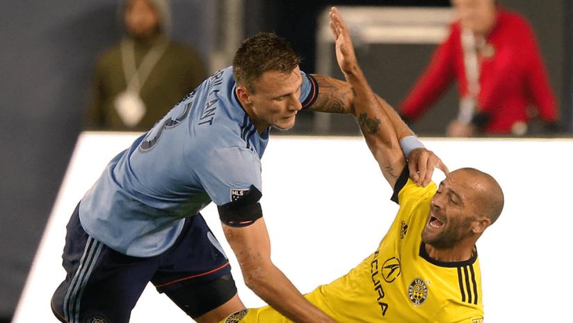 Frederic Brillant, Federico Higuain - New York City FC, Columbus Crew SC - Close up