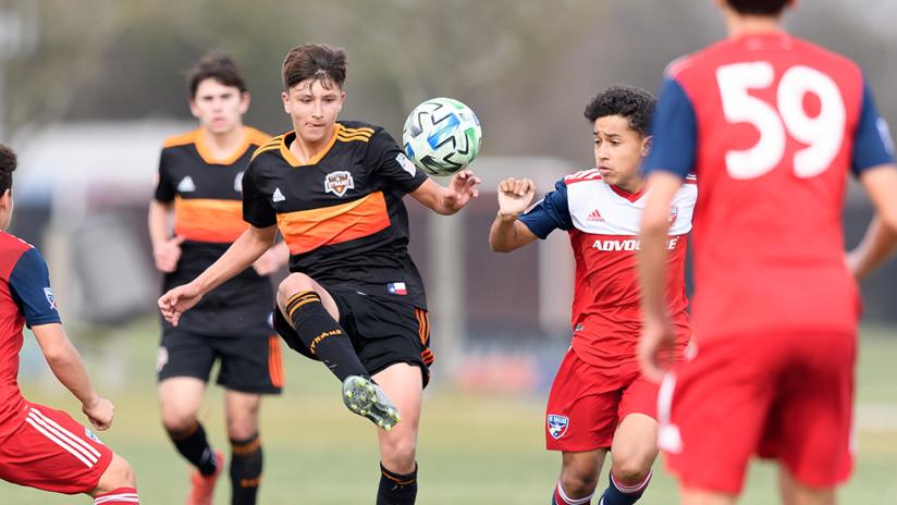Houston Dynamo vs FC Dallas in academy action
