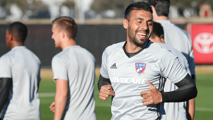 Javier Morales - Smiling in training - FC Dallas
