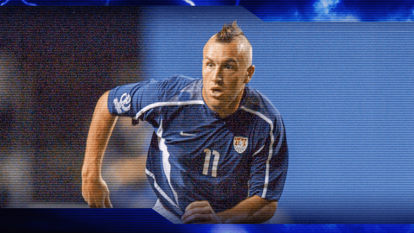 Clint Mathis and his mohawk during the 2002 World Cup