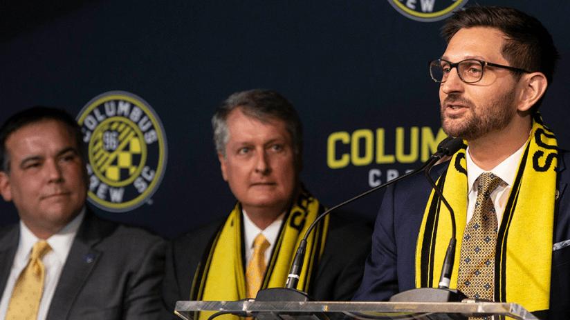 Tim Bezbatchenko - Columbus Crew SC - Presser