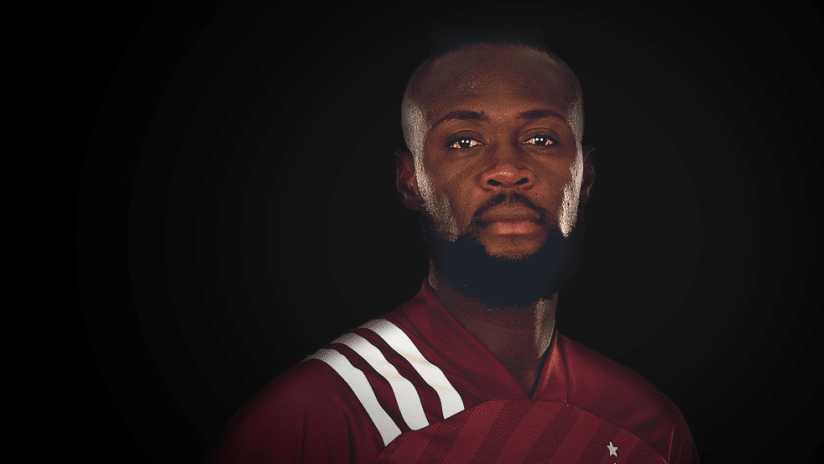 Kei Kamara - portrait against black background - use only for special posts
