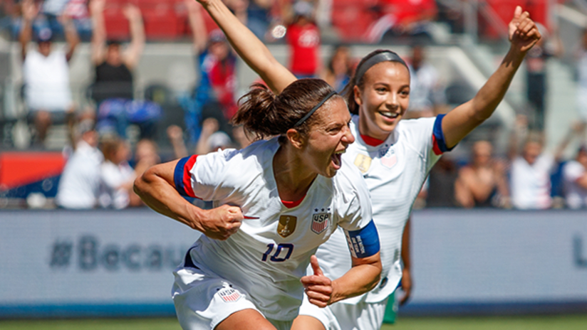Carli Lloyd celebrates - US Women's National Team - May 12, 2019