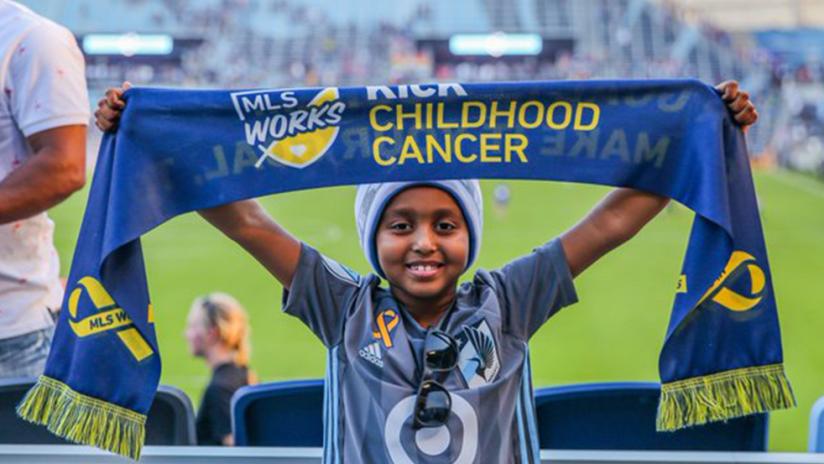 Betty - Minnesota United kid captain - Kick Childhood Cancer night