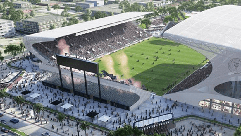 Lockhart Stadium and Inter Miami training facility rendering - March 2019