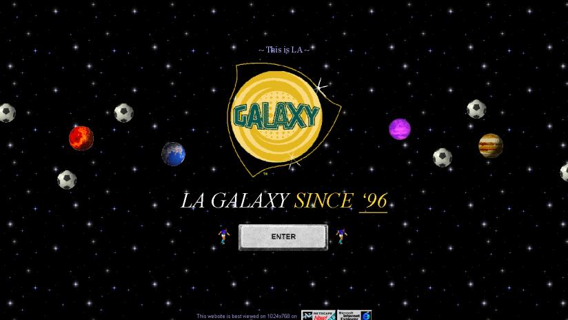 LA Galaxy - galaxysoccer.net - landing page