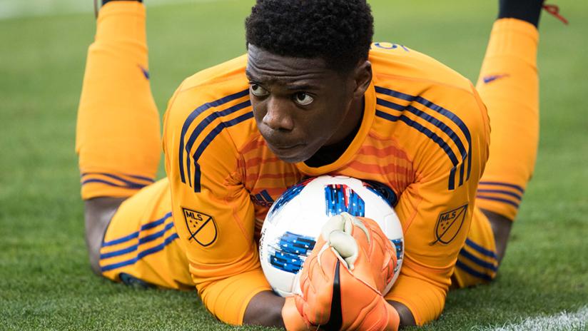 Sean Johnson - New York City FC - NYCFC - Pounces on a save