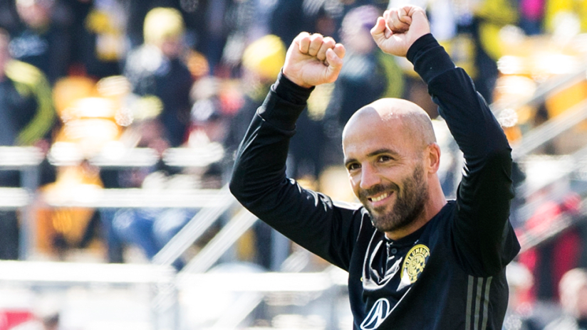 Federico Higuain - Columbus Crew SC - Cheers after a goal