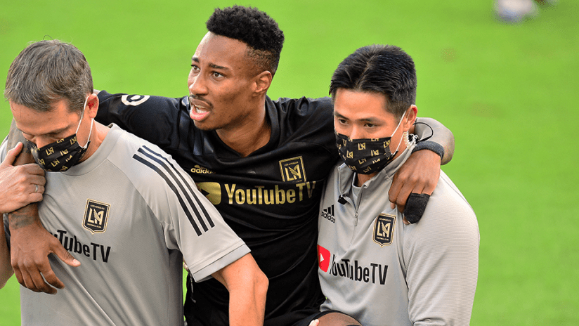 Mark-Anthony Kaye - LAFC - Carried off field
