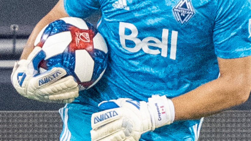Vancouver - close up of GK holding a ball