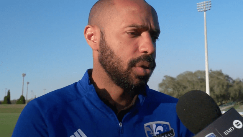Thierry Henry - Montreal Impact - 2020 preseason - video still frame