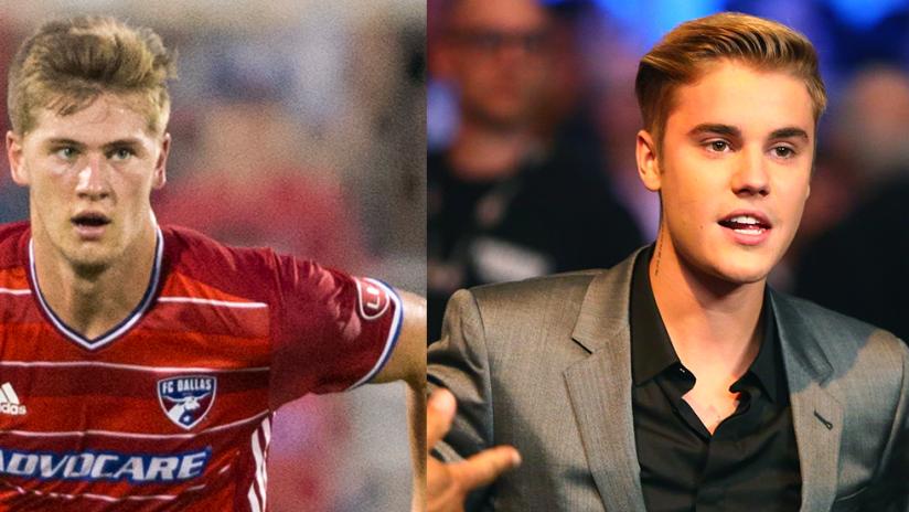 Walker Zimmerman - Justin Bieber - split image