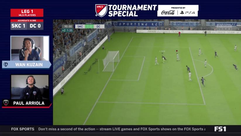 eMLS screenshot: Wan Kuzain celebrates a goal