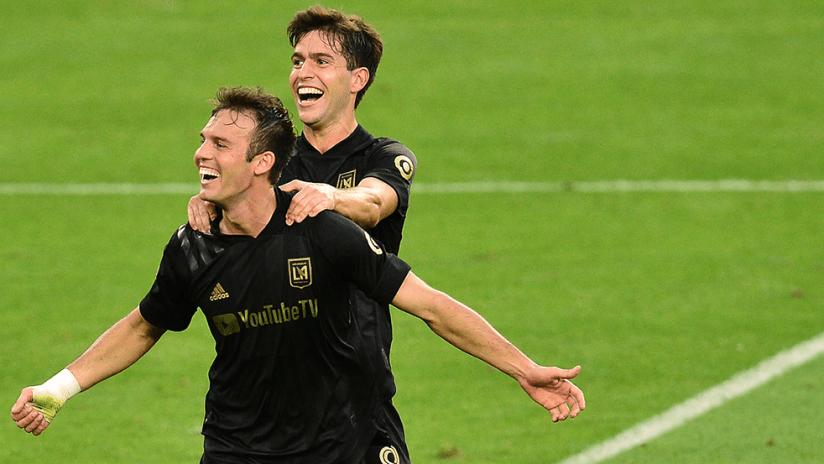 Danny Musovski, Francisco Ginella - LAFC - Celebrate