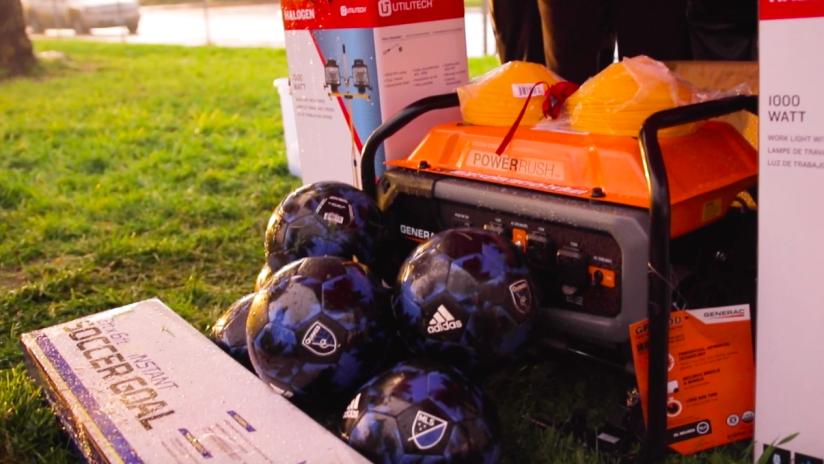 San Jose Earthquakes - donated soccer equipment