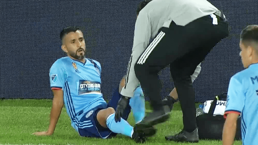 Maxi Moralez injury - NYCFC - September 12, 2020