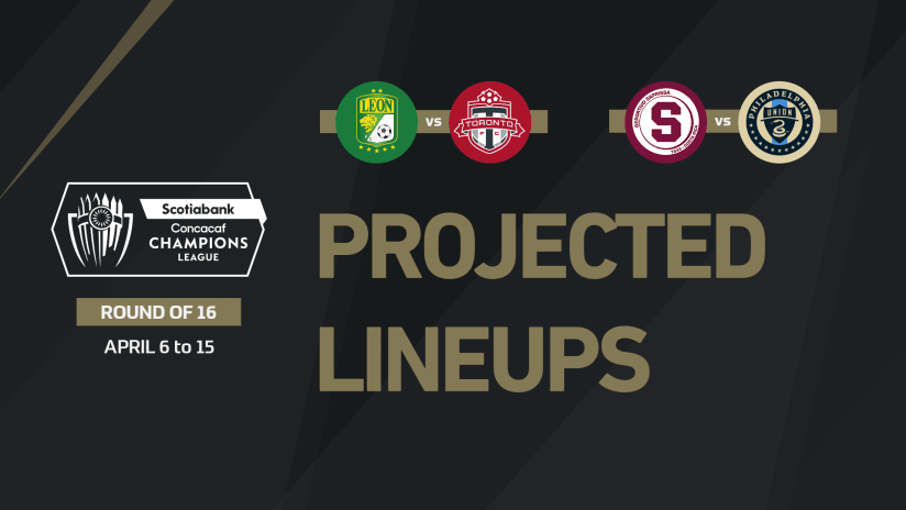 Projected lineups for Concacaf Champions League Round of 16 - April 14