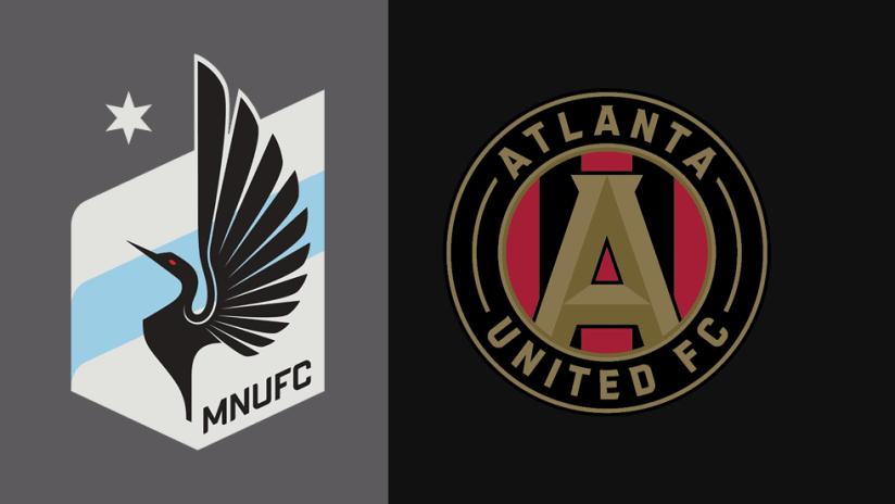 Minnesota United vs Atlanta United - logos