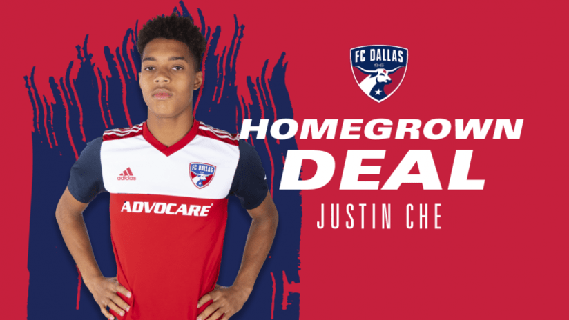 Justin Che signs - FC Dallas