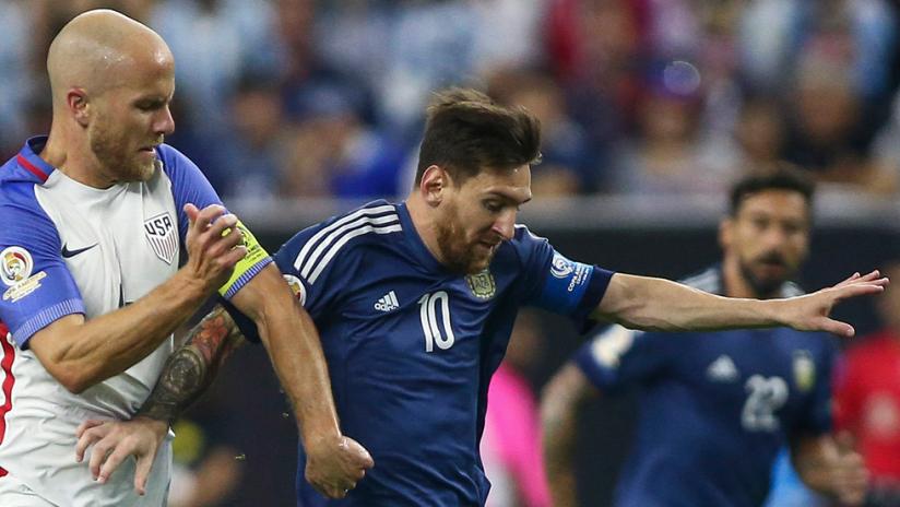 Michael Bradley vs. Lionel Messi - USA vs. Argentina - CAC