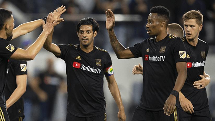 LAFC celebrate a goal - 2019