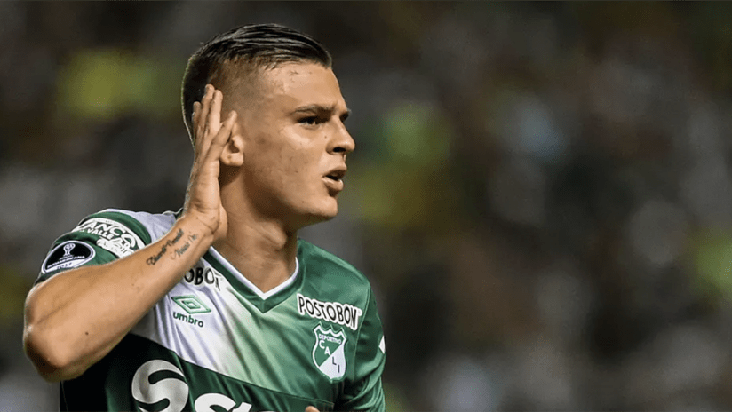 Nicolas Benedetti - playing for Deportivo Cali - close up