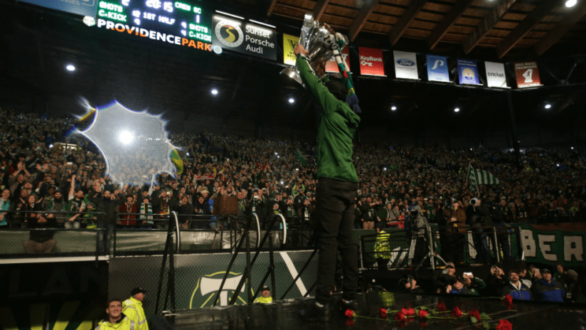Timbers MLS Cup rally - 12/8/15